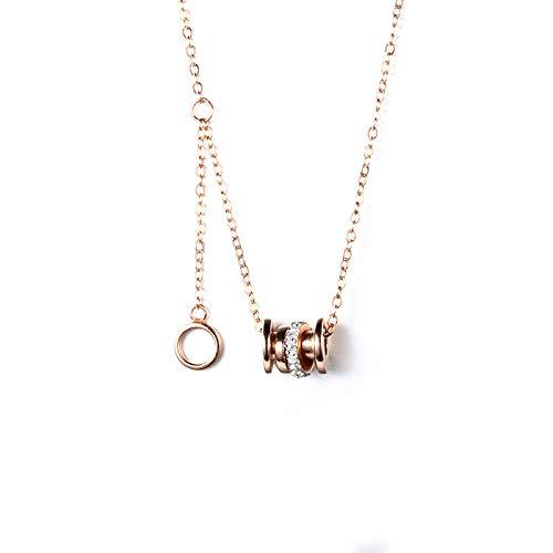 Collar Mujer Plata De Ley 925 Cadena De Clavícula Colgante De Diamantes De Cintura Pequeña