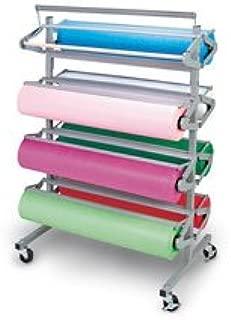 Nasco 8-Roll Capacity Art Paper Roll Dispenser Rack and Cutter - Rack ONLY - 9701233