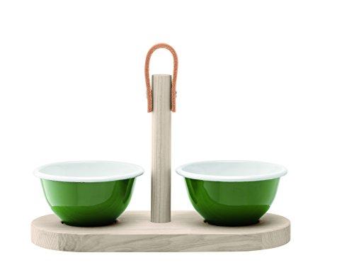 LSA International Utilidad Duo Set de Tapas, Verde/Gris, 28cm