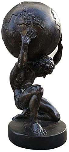 QOHG-Decoración Estatuillas coleccionables Atlas Sculpture Statue, Hércules Estatua Estatuilla Retro Resina Artesanía Modelo mítico Figurine Figurine Crafts