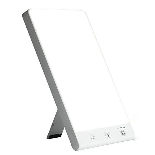 AYO Light Therapy Lamp | 10.000 Lux Natuurlijke Licht | UV & Infrarood Gratis | Draagbaar & Slim Ontwerp | Verstelbare Timer & Helderheid | Boost Mood | Verhoog energie | Slaap Beter