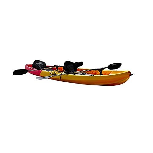 Cambridge Kayaks ES, Sun Fish TÁNDEM SÓLO 2 + 1 Rojo con Amarillo, RIGIDO