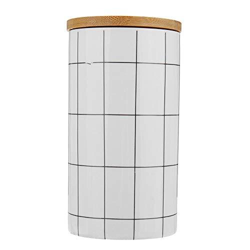 YAzNdom voorraadpot keramische bewaarpotten hout lids thee suiker koffie keuken container voor het serveren van thee koffie