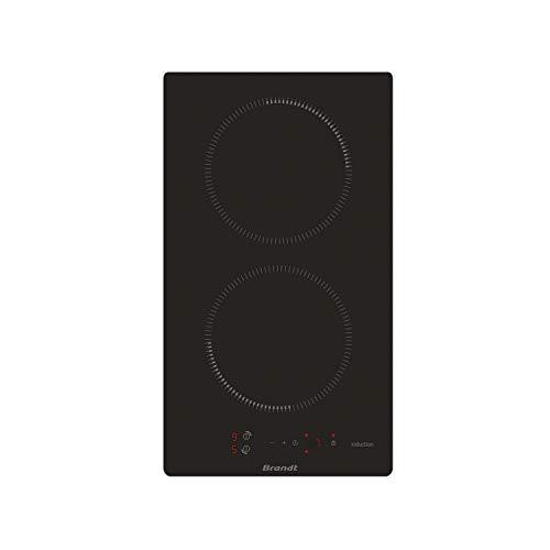 Brandt BPI6210B - Plaque Induction 2 feux - Plaque de cuisson Induction - Dimensions produit (LxP en cm) : 28.8/51
