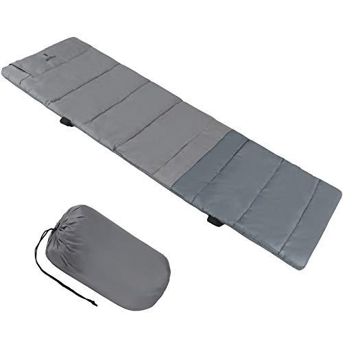 ALPIDEX universelle Feldbettauflage mit Kissenfach, Fixierbändern und Packsack, Größe:190 x 64 cm