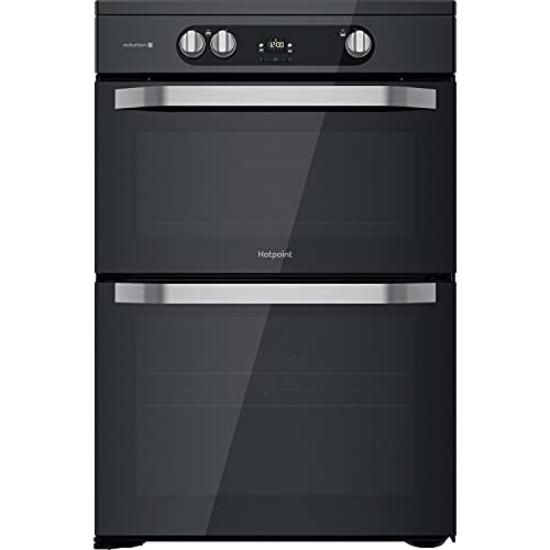 Hotpoint HDM67I9H2CB 60cm Double Oven Induction Electric Cooker - Black