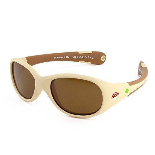 ActiveSol BABY-Sonnenbrille | MÄDCHEN | 100% UV 400 Schutz | polarisiert | unzerstörbar aus flexiblem Gummi | 0-2 Jahre | 18 Gramm [Size L - Forest]