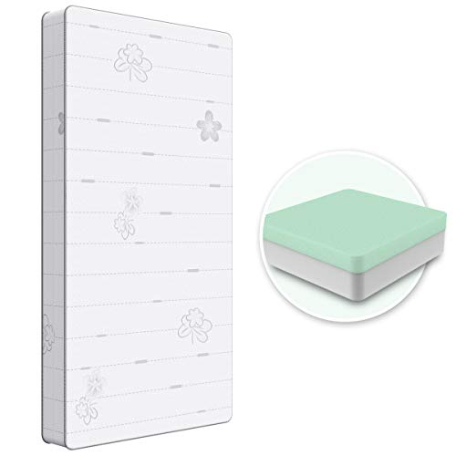 Dourxi Crib Mattress, 2-Stage Dual Sided Toddler Mattress,...