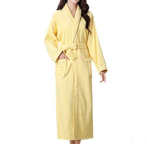 BAYUE Winter Katoen Vrouwen Handdoek Badjassen Huiskleding Terry Badjas Effen Kleur Grote Maat Home Robe Voor Vrouwen