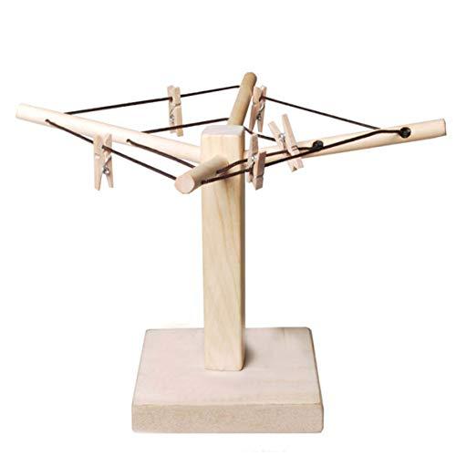 Wunderschöne Geldwäsche-Spinne, Bodenplatte aus Holz inkl.10 Holzklammern & Faltanleitung
