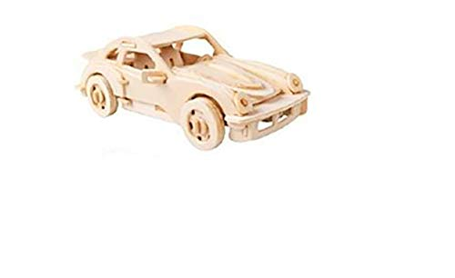 3D Puzzle in Wooden, Wood Puzzle, Woodcraft Construction Kit-Car, Car, Toy, Child