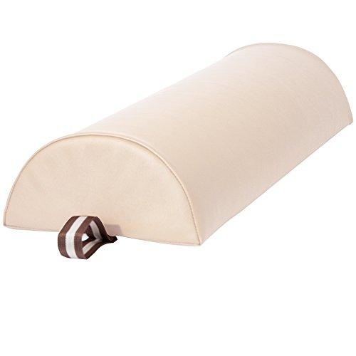 Master Massage Halfronde Bolster Half Rond Kussen, Crème, 23 cm, Groot