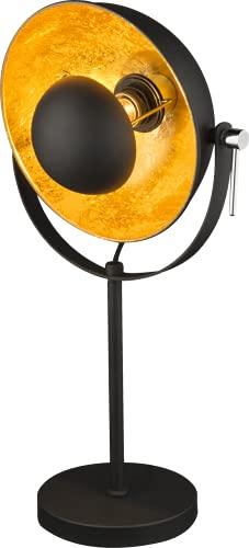 Globo XIRENA Lampe de table Chromé/noir/métal doré