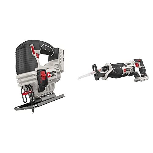 PORTER-CABLE 20V MAX Jig Saw, Tool Only (PCC650B) & 20V MAX Reciprocating Saw, Tool Only (PCC670B)