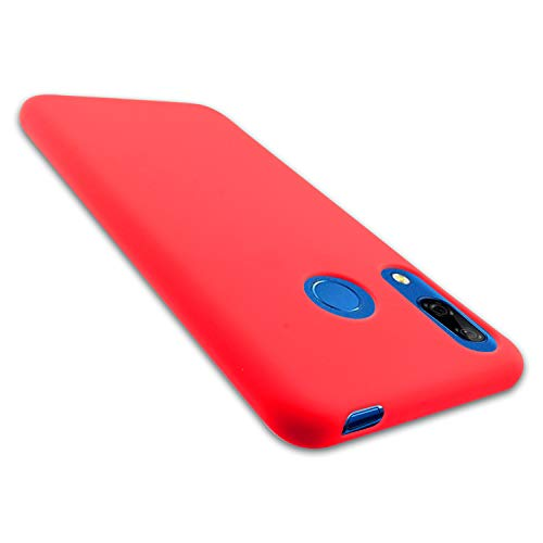 Funda para Huawei P Smart Z - Y9 Prime 2019 - Carcasa de TPU Silicona - Protector Trasero en Rojo