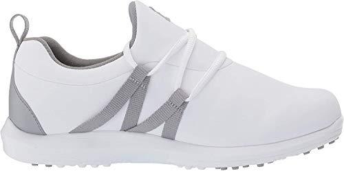 Footjoy Damen Leisure Slip-on Golfschuh, Weiß Grau, 39 EU