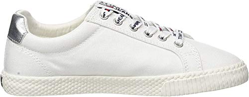Tommy Hilfiger Tommy Jeans Casual Sneaker, Zapatillas para Mujer, Blanco (White 100), 38 EU