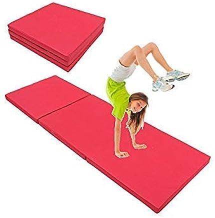 71x24x2inch Folding Panel Gymnastics Mat Gym Exercise Yoga Tri Pad