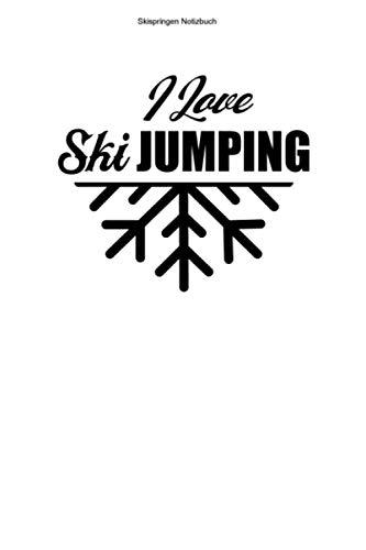 Skispringen Notizbuch: 100 Seiten | Kariert | Geschenk Skisprungschanze Skisprung Springer Skispringer Skier Ski Sprung Ski Springen Skispringen Schanze Team Skischanze