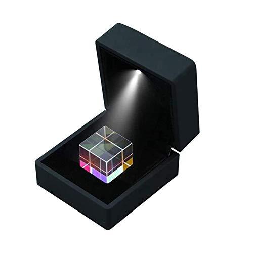 DHFD Optischer Prismen-Würfel, RGB Dispersion Prisma, Optische Glaswürfel Prisma quadratischer Würfel Prisma, für Physik Lichtspektrum Bildung Modell Outdoor Fotografie