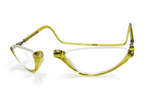 クリックソノマ クリックリーダー老眼鏡・リーディンググラス クリックショップオリジナル (レモングリーン, 3.00)