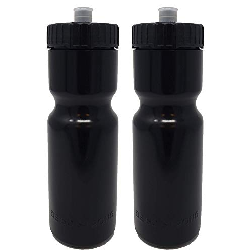 50 Strong Sports Squeeze Water Bottle 2 Pack – 22 oz. BPA...