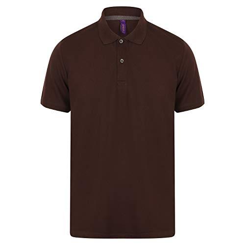 Henbury - Polo algodón Pique Tallaje Moderno para Hombre (3XL) (Marrón Chocolate)