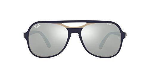 Ray-Ban 0RB4357 Gafas, BLUE CREAMY LIGHT BLUE, 58 Unisex Adulto