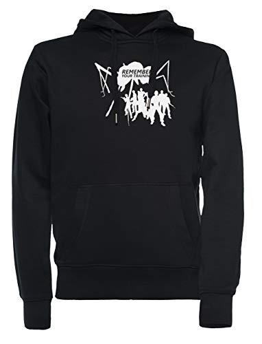 Rundi Tierra Defensa Fuerza Hombre Mujer Unisexo Sudadera con Capucha Negro Tamaño XS - Women's Men's Unisex Sweatshirt Hoodie Black