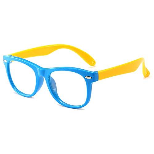 VEVESMUNDO kinderbril anti-blauw licht computer blauw lichtfilter anti-vermoeidheid TR90 siliconen helder brilmontuur kinderbril zonder sterkte voor meisjes jongens tieners met brillenkoker