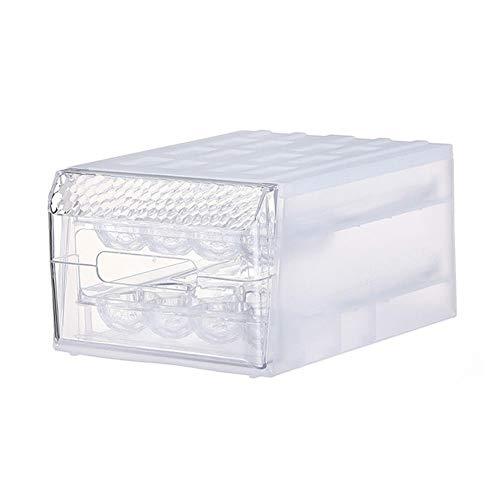 30Doppelschichtige transparente Kunststoffschublade Typ mit großer Kapazität Eieraufbewahrungsbox Feste Trennwand Anti-Breaking-Tablett Küche Finishing Lebensmittelkonservierung Kühlschrank Sortierung