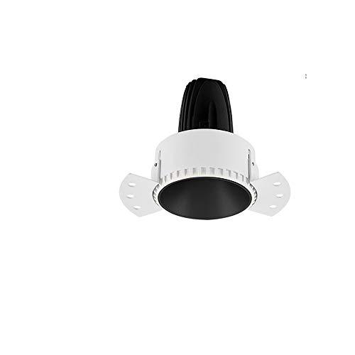 Rekaf Conjunto de luz de techo empotrable de la lámpara de Downlight Spotlight sin borde 5W Embedded Oculted Oculted Embedded Washer Shop Commercial LED Luz de techo Downlights para baño Cocina Techo