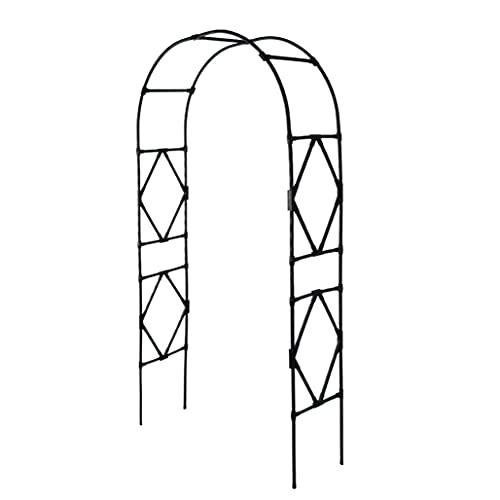 JPSHBA Arco Rosas Trepadoras,Garden Rose Arch Arbor Enrejado,Soporte Arco Decoración Durable al Aire Libre para Plantas Trepadoras Despedida de Soltera