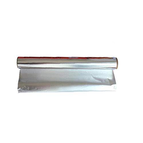 fedsjuihyg Rollo De Papel De Aluminio para Horneado/Barbacoa 30 * 500 Cm 1 Pcs Cocina