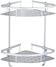 YAeele Geen Drilling Badkamer Corner Rekken, Aluminium 2 Tier Douche Shelf Caddy Adhesive Storage Basket Compatible with S...