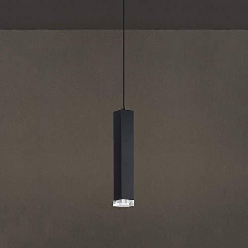 NZDY 1 Luz Led Cilindro Tubo Lámparas Colgantes Cuadradas Aluminio Moderno Cilíndrico Largo de Cristal Araña de Techo Personalidad Nórdica Restaurante Creativo Cocina Isla Decoración Luz de Suspensió