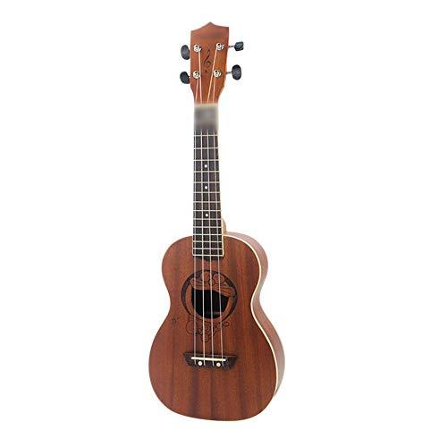 Mageelian 23-Zoll-Ukulele-Uklele schnitzte hawaiianische viersaitige kleine Gitarren-Ukulele
