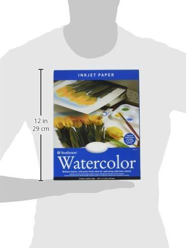 "Strathmore 59-771 Watercolor Inkjet Paper, 8.5""x11"", 8 Sheets"