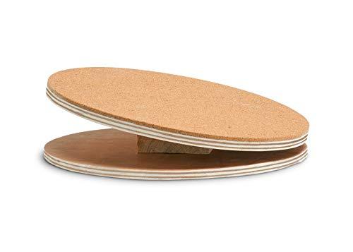 Karlie 1030510 Bogie Disco de Madera Running Disc con con Revestimiento de Corcho, 25 cm, M