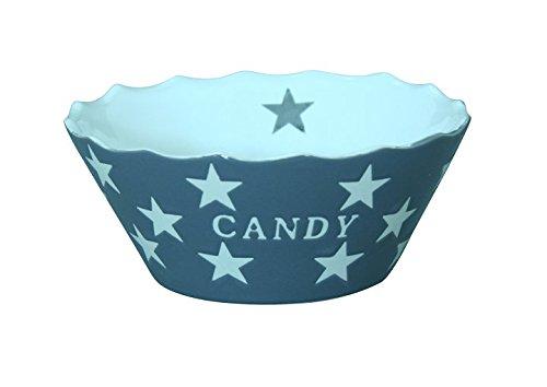 Krasilnikoff Becher Candy dunkelgrau (charcoal) Sterne Keramik handbemalt Süßigkeiten