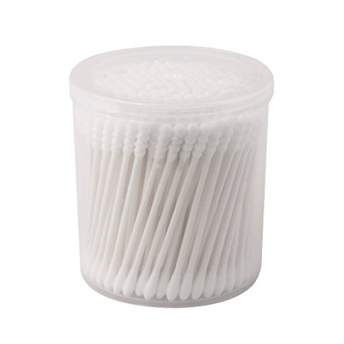 Gazechimp 200pcs Cotons-tiges Bout Rond Poignée de Papier Applicateur de Maquillage 7.5cm