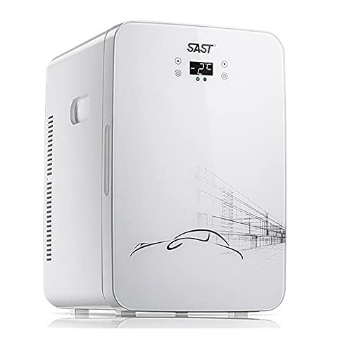 Mini refrigerador de 22 L para el cuidado de la piel y refrigerador de maquillaje para el cuidado de la piel, refrigerador y calentador de refrigerador para automóvil con CA / CC, para oficina / dor