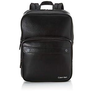 31galtMQUvL. SS300  - Calvin Klein - United Pu 3g Square Backpack, Mochilas Hombre, Negro (Blackwhite Black), 1x1x1 cm (W x H L)