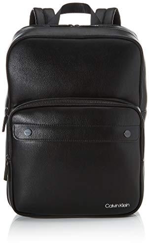 Calvin Klein United Pu 3g Square Backpack - Zaini Uomo, Nero (Blackwhite Black), 1x1x1 cm (W x H L)