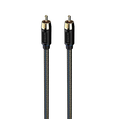 Austere V Series Subwoofer Cable   Premium Audio, Pure Gold Contacts, Copper Shielding, SoftTouch High-Flex Cable and LinkFit Connectors
