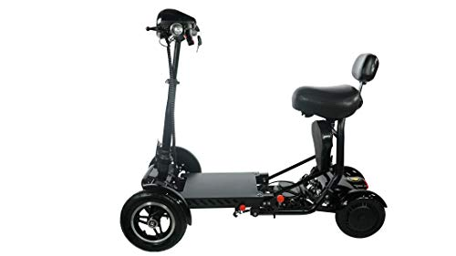 City Slicker by United Mobility Electric Scooters Foldable Lightweight Power Mobility Scooter for Adults Lightweight Folding Scooter Motorized Scooter Multi Terrain Electric Scooter (Black)