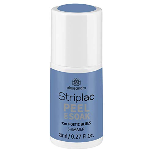 alessandro Striplac Peel or Soak 120 Poetic Blues - LED Nagellack, 8 ml