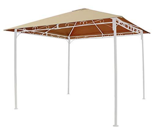 GRASEKAMP Qualität seit 1972 Ersatzdach 3 x 3 m Sand universal zu Antik Pavillon Gartenpavillon Partyzelt Plane Bezug