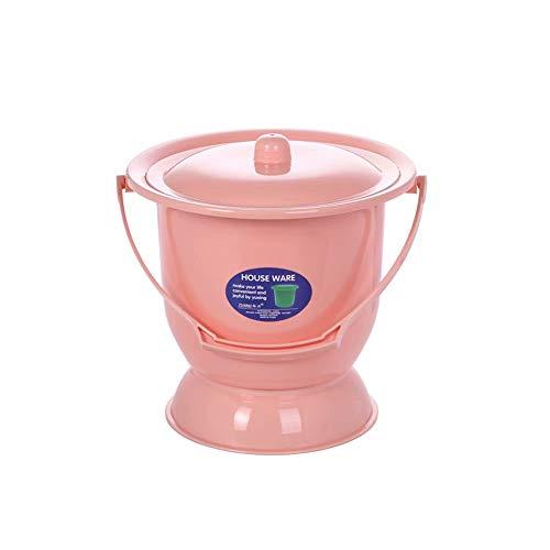 AUCO Tragbare Urinale ToilettentöPfe - Kinder Schwangere Weibliche Urineimer, Kunststoffe Erwachsene Mit Deckel, UrintöPfe, Urinale Spucknapf