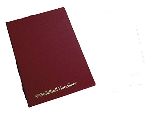 Guildhall Headliner Book - Bloc para gráficos y datos (80 hojas, 298 x 203 mm), rojo